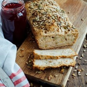 Gluten-Free Oatmeal Sunflower and Pumpkin Seed Bread