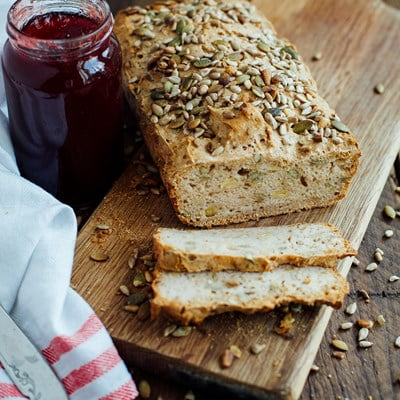 Gluten-Free Oatmeal Sunflower and Pumpkin Seed Bread