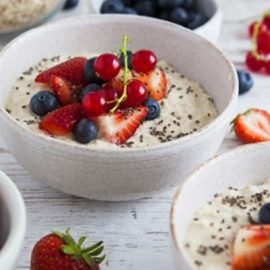 Summer Berry and White Chocolate Overnight Oats