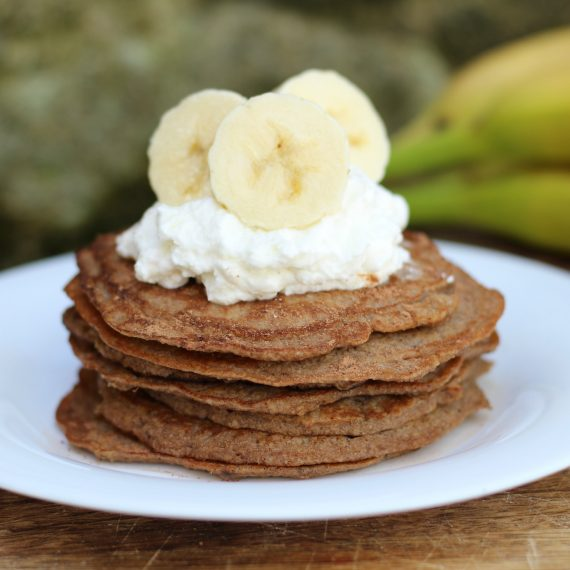 Banana and Chocolate Post-Workout Pancakes
