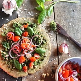 Oat and Basil Pizza