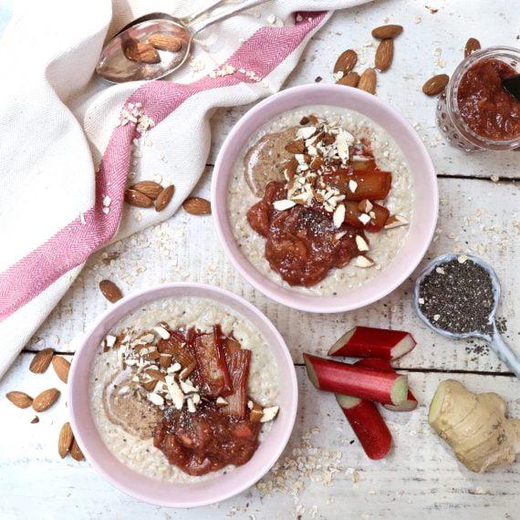 Vanilla Porridge with Rhubarb Chia Jam