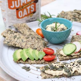 Rosemary and Olive Oil Oat Crackers