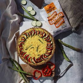 Sweet Pepper, Courgette and Asparagus Oat Based Quiche