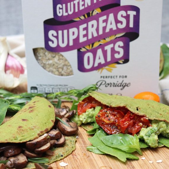 Oat and Spinach Pancakes