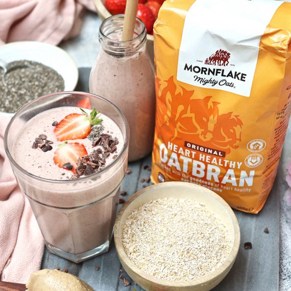 Strawberry and Oatbran Smoothie