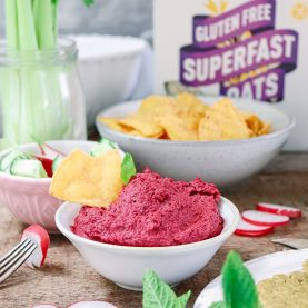 Beetroot and Mint Hummus