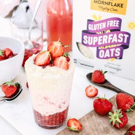Strawberry and Vanilla Bircher