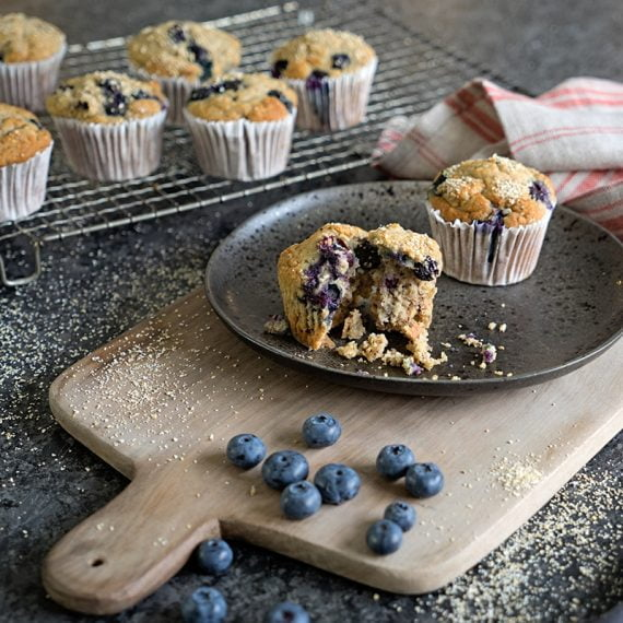Banana, Blueberry & Oatbran Muffins