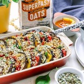 Herby, Oat Crumb Mediterranean Vegetables