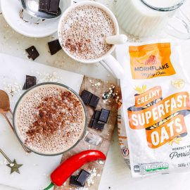 Vegan Hot Chocolate & Chilli Oat Mylk