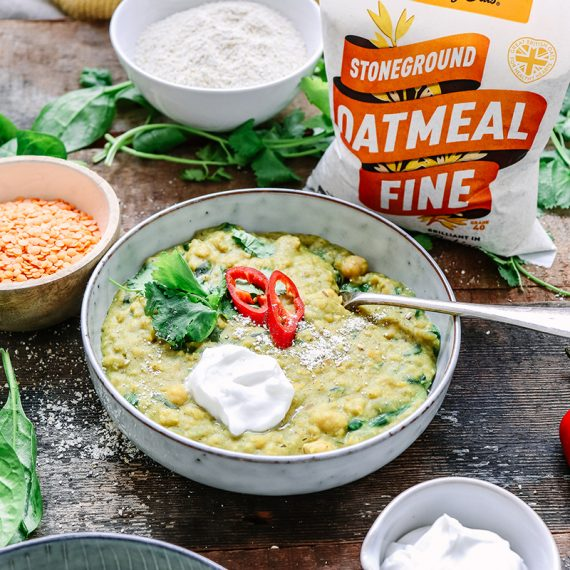 Chickpea and Spinach Dhal