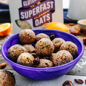 Cranberry & Orange Oaty Bliss Balls