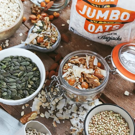 Spicy Chickpea & Oat Trail Mix
