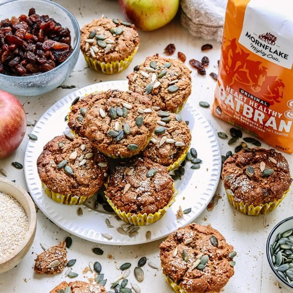 Apple and Oatbran Seeded Muffins
