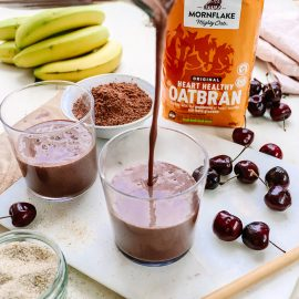 Chocolate & Cherry Oatbran Smoothie