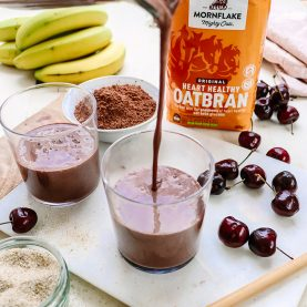 Chocolate & Cherry Oatbran Smoothie