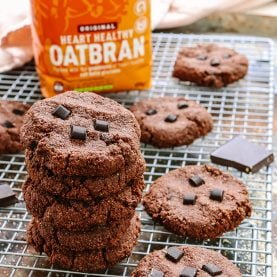 Double Chocolate Oatbran Cookies