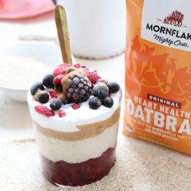 Vanilla Oatbran and Berry Chia Jam Pot