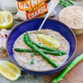 Savoury Asparagus Oatmeal