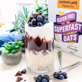 Blueberry and Flaxseed Bircher