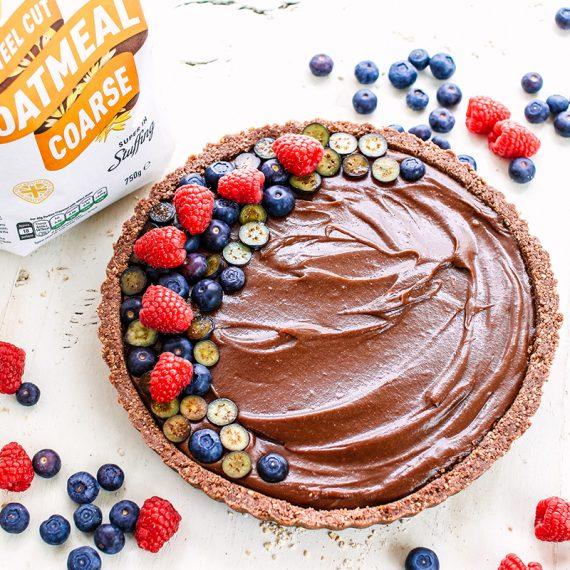 Oat Crust Chocolate Tart