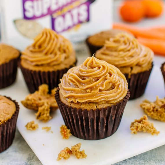 Oaty Carrot Cake Muffins