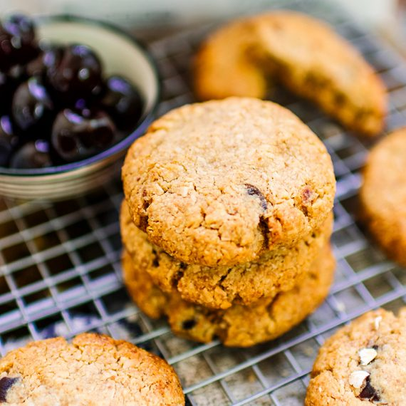 Gluten free coconut cherry cookies