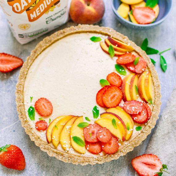 Vegan Peach & Coconut Cheesecake