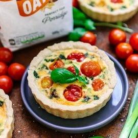 Tomato & Spring Onion Quiche