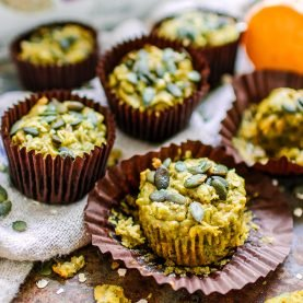 Sweet Potato & Spinach Muffins