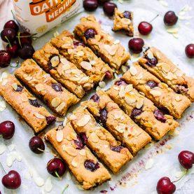 Cherry Oat Bakewell Bars