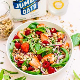 Summer Berry Salad with Oat & Almond Crunch
