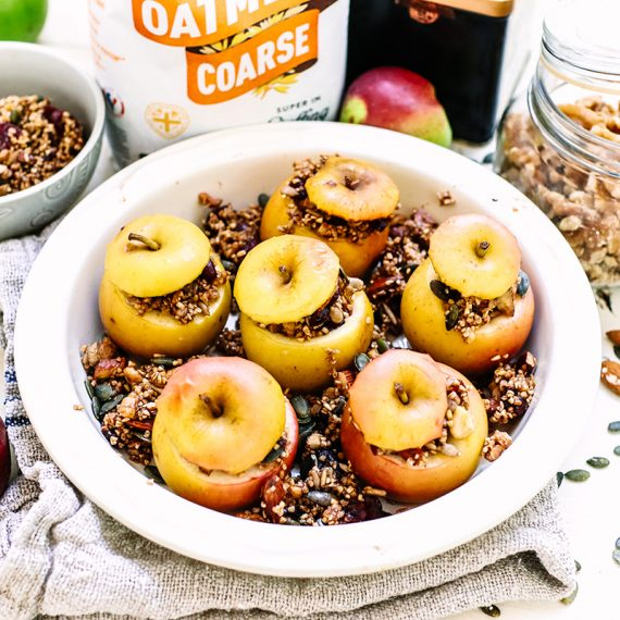 Baked apples with spiced oat crumble