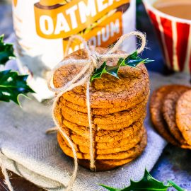 Oatmeal Gingerbread Cookies