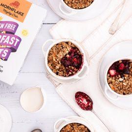 Winter Berry Nutty Oat Breakfast Crumble
