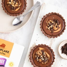 Mini No Bake Chocolate Peanut Butter Pies