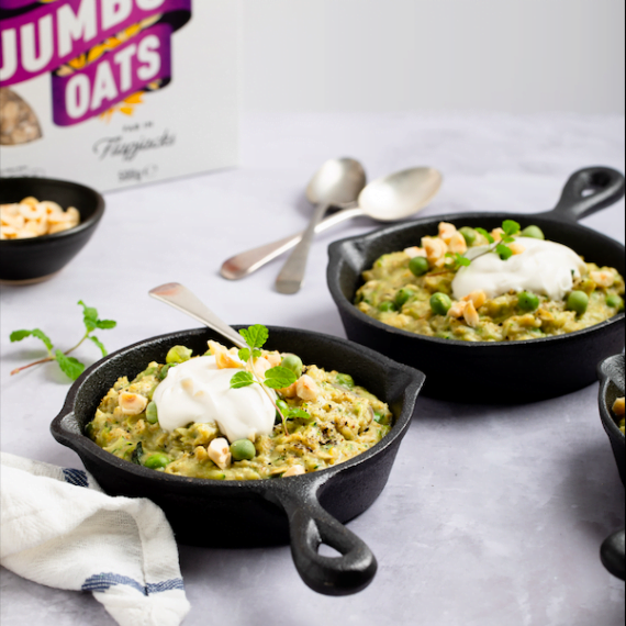 Spring Pea Courgette Mint Oatmeal