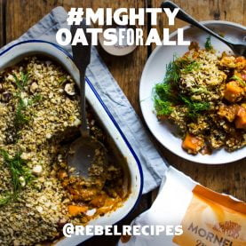 Veggie Bake with a Nutty, Oat Crumble