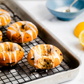 Blueberry Baked Doughnuts