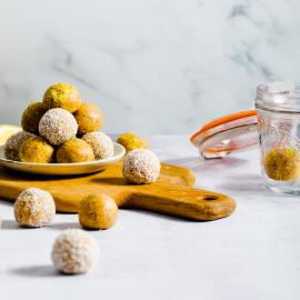 Lemon Poppy Seed Bliss Balls