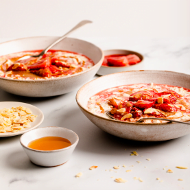 Roasted Strawberry Bircher Muesli