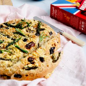 Sun-dried Tomato, Olive + Asparagus Picnic Bread