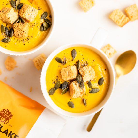 Roasted Pumpkin Oat Soup