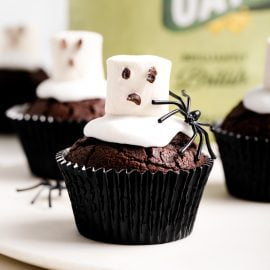 Super Spooky Ghost Cupcakes