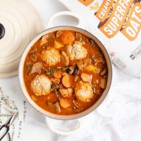 Vegan Stew with Dumplings