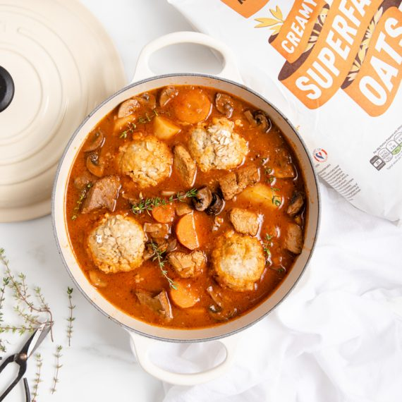 Vegan Stew with Dumplings